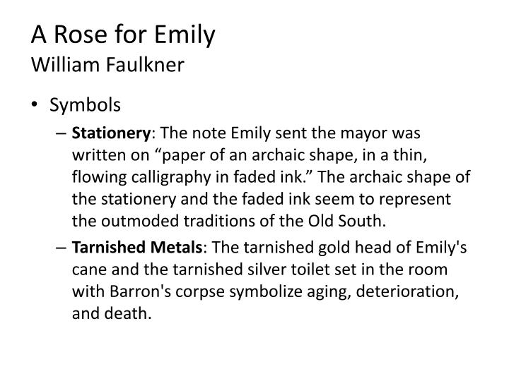 a rose for emily notes