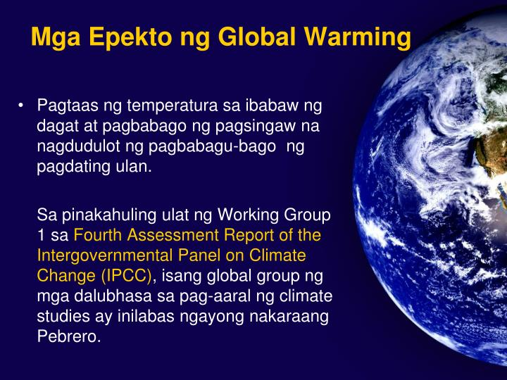 ang mga dahilan at epekto ng global warming essay