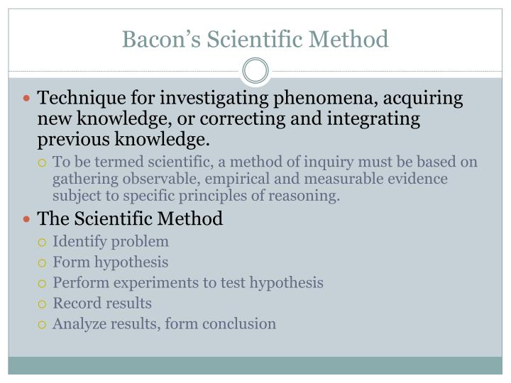 Bacon's Scientific Method