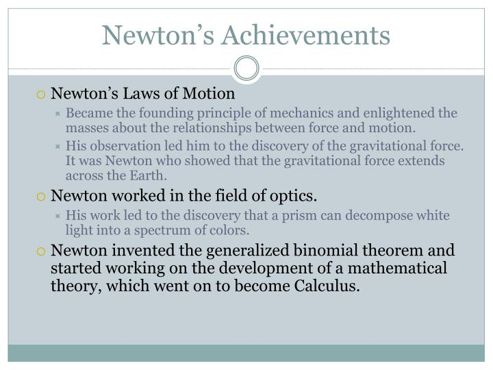 Newton's Achievements