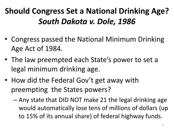 Should Congress Set a National Drinking Age?
