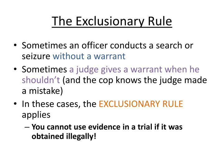 exclusionary rule pros and cons