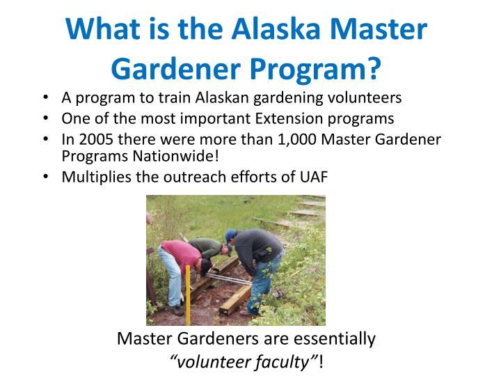 What is the alaska master gardener program