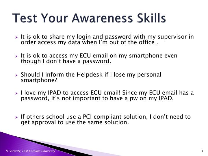 Test your awareness skills