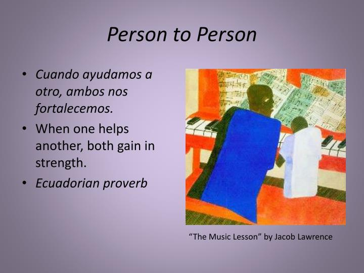 person to person n.