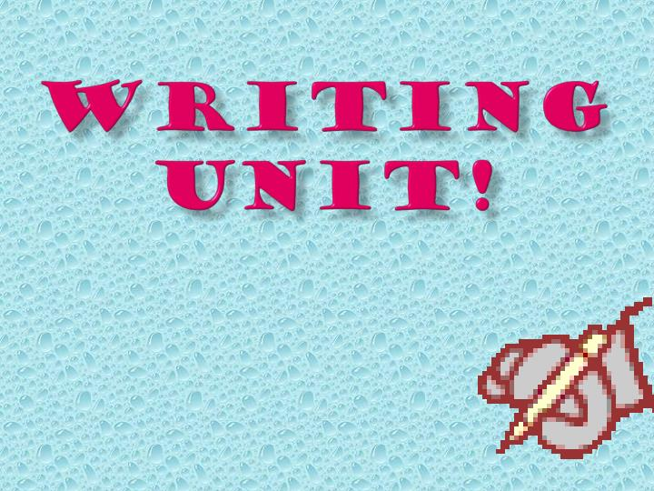 writing unit n.