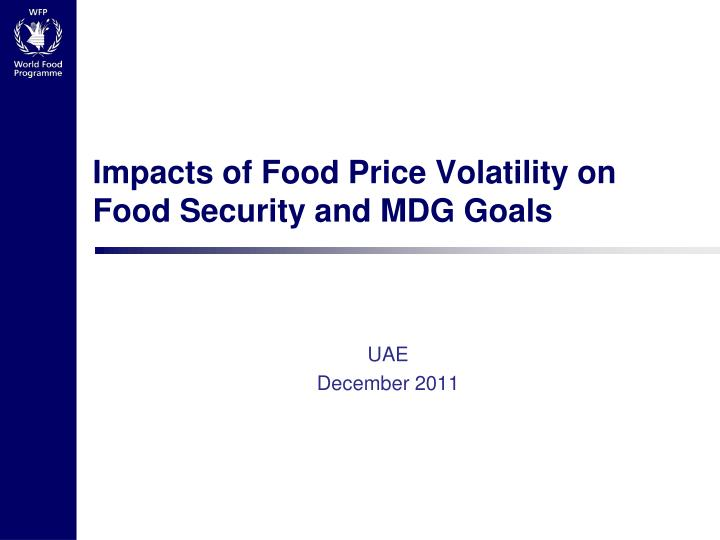 impacts of food price volatility on food security and mdg goals n.