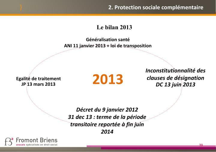 2. Protection sociale complémentaire