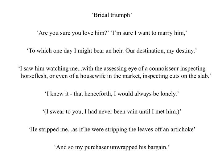 'Bridal triumph'