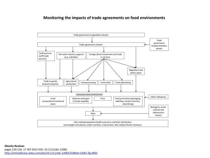 Monitoring the impacts of trade agreements on food environments