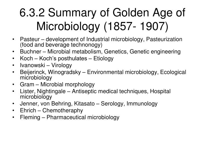 golden age of microbiology essays