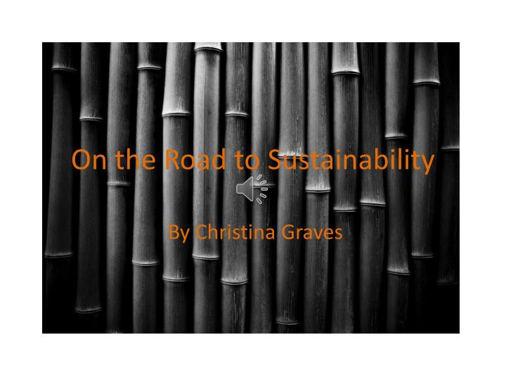 on the road to sustainability n.
