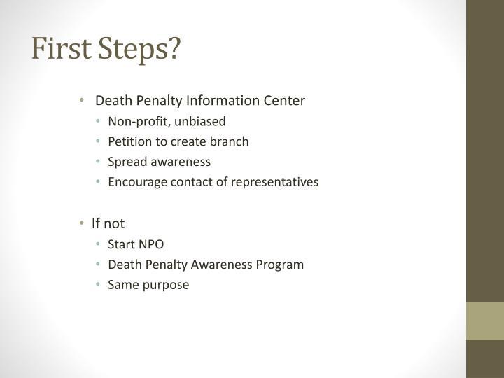 First Steps?