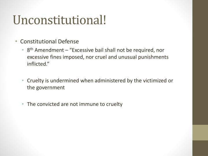 Unconstitutional!