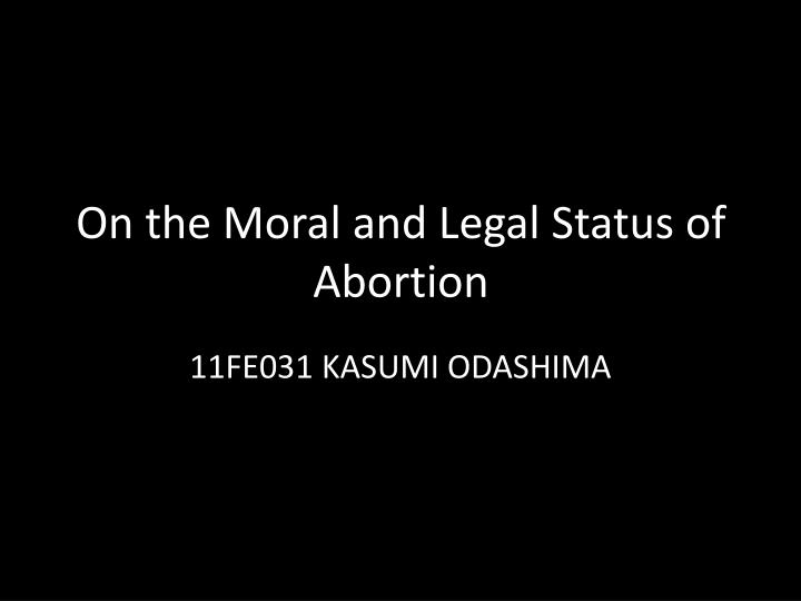 the moral status of the fetus