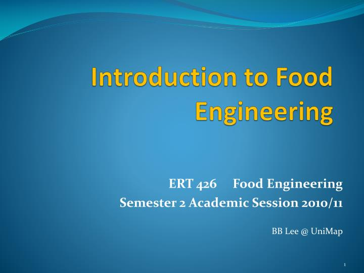 introduction to food engineering n.