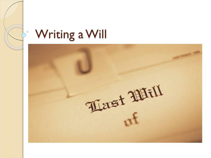 write my will Writing a will isn't the most pleasant of tasks after all, by doing so you're not only acknowledging your own inevitable demise but actively planning for it that might explain why so many adults avoid this cornerstone of estate planning according to an aarp survey, 2 out of 5 americans over the.