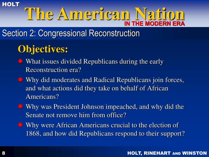 Section 2: Congressional Reconstruction