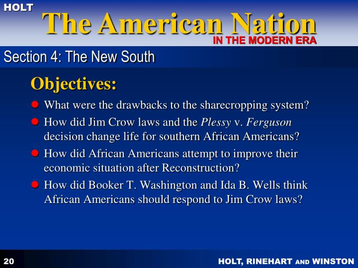 Section 4: The New South