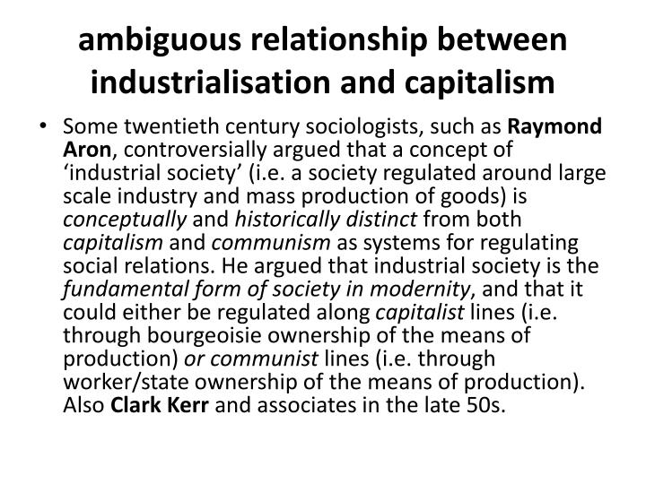 relationship between race and capitalism Elucidating the relationship between racism and capitalism: dr satter is synthesizing the sociological, economic, urban, political, and financial history of the late 20th century in order to accurately situate shorebank and its policies.