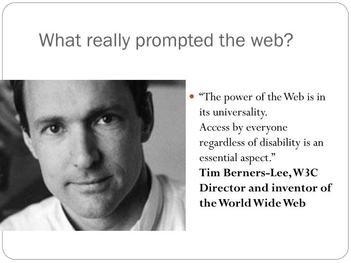 What really prompted the web