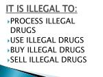 it is illegal to