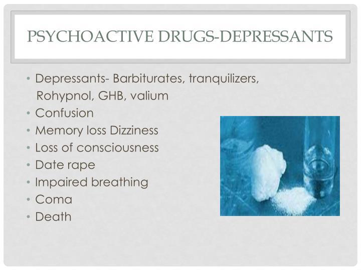 Psychoactive Drugs-Depressants