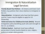 immigration naturalization legal services