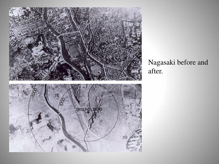 Nagasaki before and after.