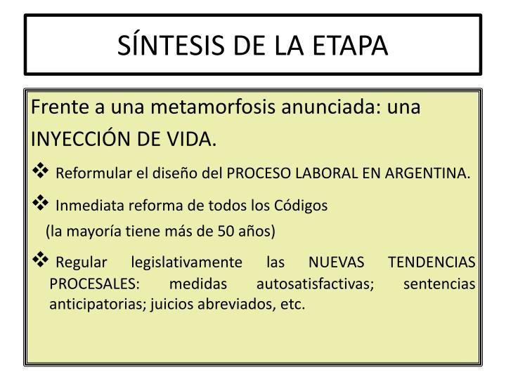 SÍNTESIS DE LA ETAPA