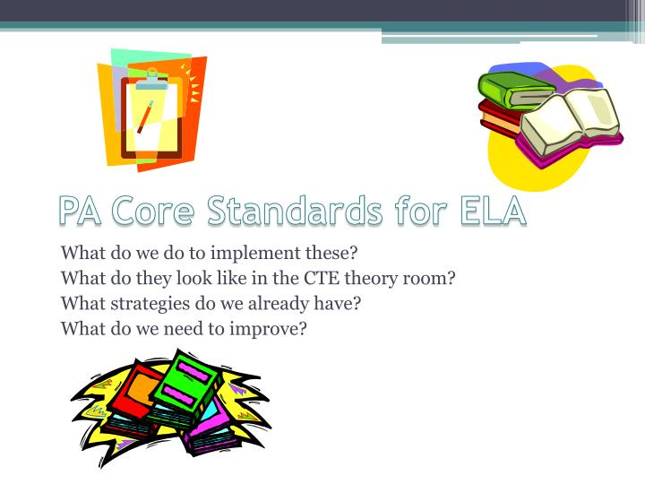 PA Core Standards for ELA