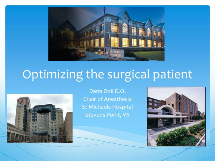 optimizing the surgical patient n.