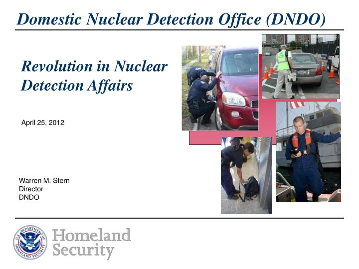 domestic nuclear detection office dndo n.