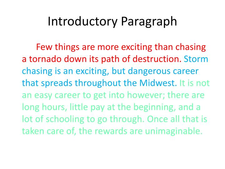 Introductory paragraph1