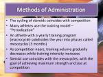 methods of administration1