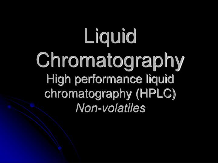 Liquid Chromatography