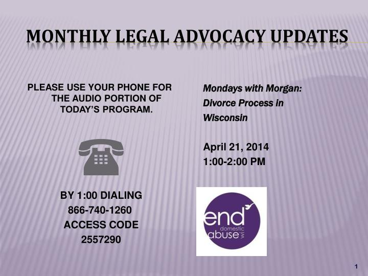 monthly legal advocacy updates n.