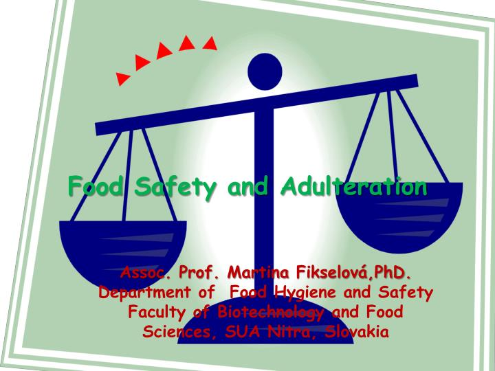 food adulteration report