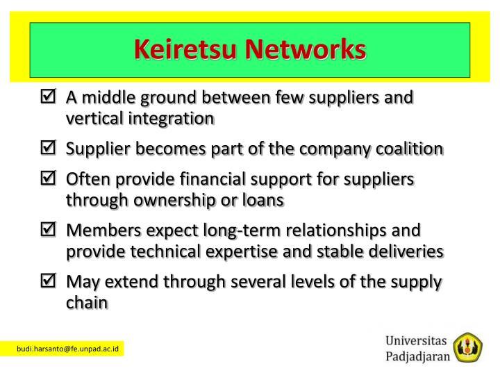 Keiretsu Networks