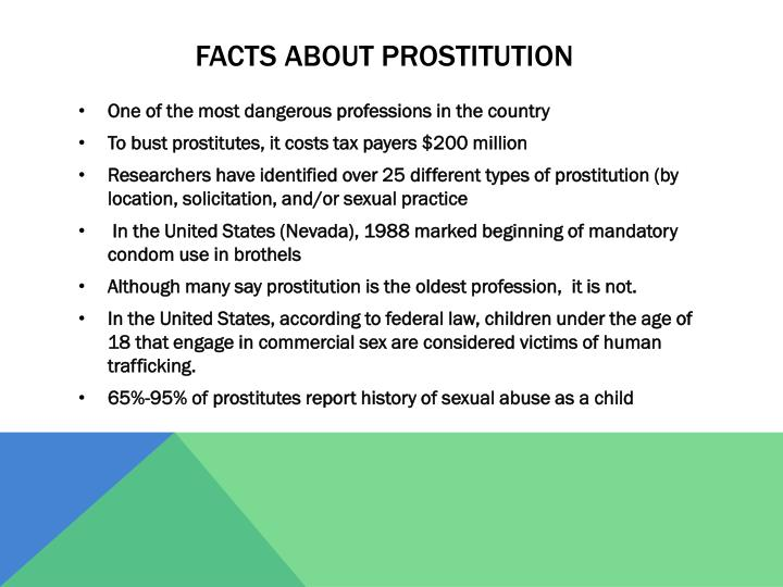 Facts about prostitution