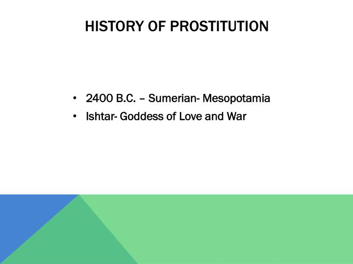 History of prostitution