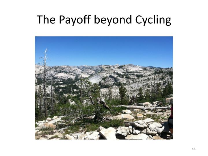 The Payoff beyond Cycling