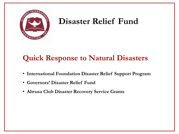 Natural Disaster Grants For Individuals