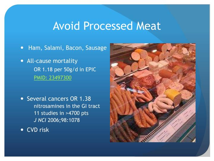 Avoid Processed Meat