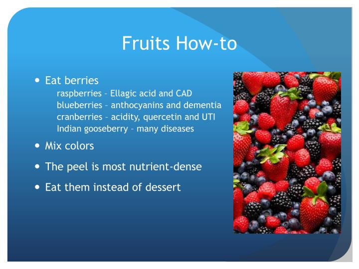 Fruits How-to