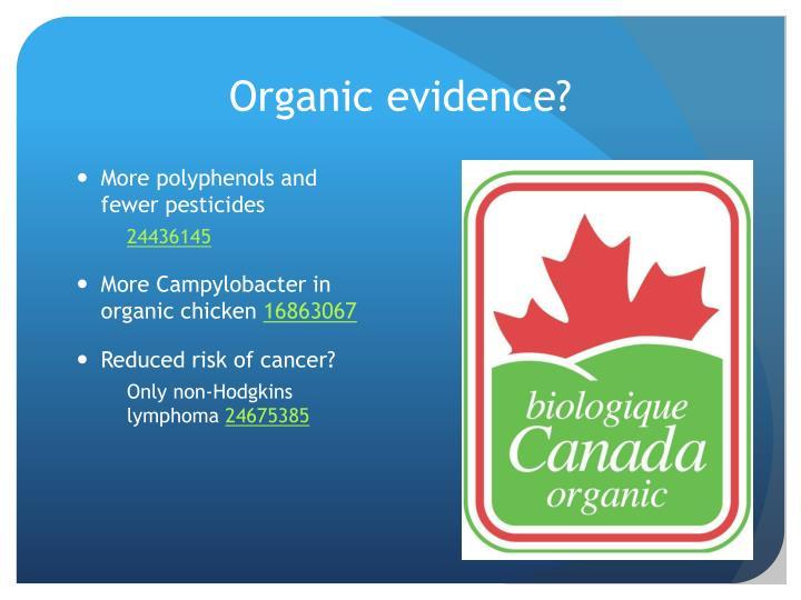 Organic evidence?