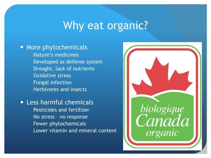 Why eat organic?