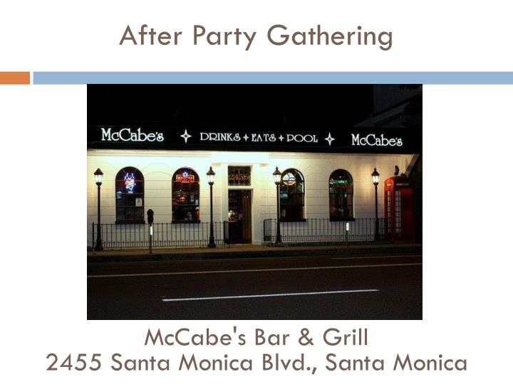 After Party Gathering