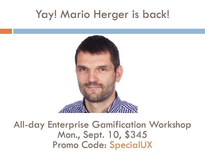 Yay! Mario Herger is back!
