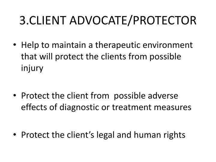 3.CLIENT ADVOCATE/PROTECTOR